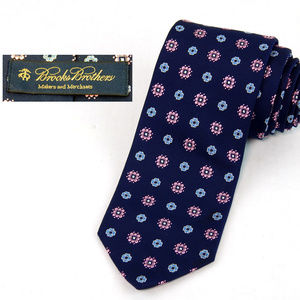 Brooks Brothers 100% Silk Tie Blue Pink USA Made